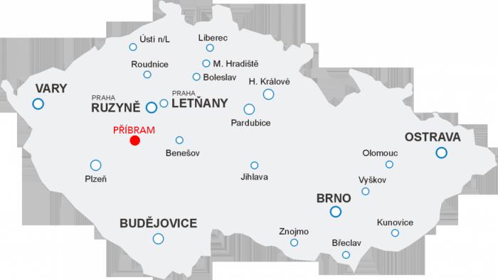 Odlety Aerotaxi z letiště Příbram